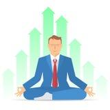 Biznesowy medytacja b ilustracja wektor