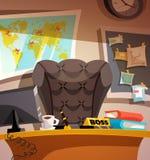 Biznesowy miejsca pracy biura wnętrze Obrazy Royalty Free