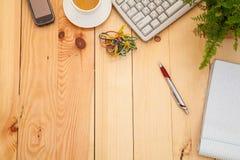Biznesowy miejsce pracy z biurowymi rzeczami Fotografia Stock