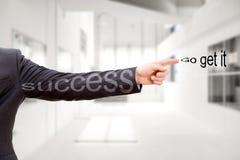 Biznesowy motywacja sukces iść dostaje mnie zdjęcia stock