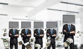 Biznesowy nałóg na nowożytnych technologiach zdjęcia stock
