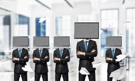 Biznesowy nałóg na nowożytnych technologiach zdjęcia royalty free