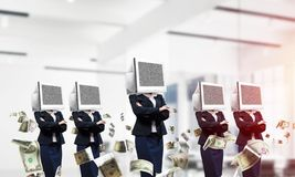 Biznesowy nałóg na nowożytnych technologiach obraz stock
