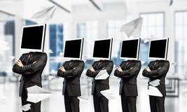 Biznesowy nałóg na nowożytnych technologiach zdjęcie stock