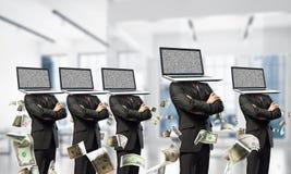 Biznesowy nałóg na nowożytnych technologiach zdjęcie royalty free