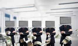 Biznesowy nałóg na nowożytnych technologiach obraz royalty free