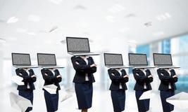 Biznesowy nałóg na nowożytnych technologiach obrazy stock