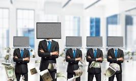 Biznesowy nałóg na nowożytnych technologiach fotografia stock