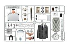 Biznesowy narzędziowy zestaw, sukces rzecz Obrazy Stock