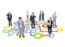 Biznesowy ochrony grupy komunikaci pojęcie Fotografia Royalty Free