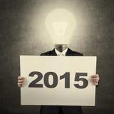 Biznesowy osoba chwyt liczba 2015 Zdjęcie Stock