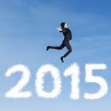 Biznesowy osoby latanie na niebie Fotografia Stock