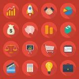 Biznesowy Płaski ikona set Zdjęcie Royalty Free
