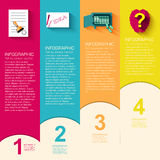 Biznesowy płaski infographic szablon z tekstem Zdjęcia Royalty Free