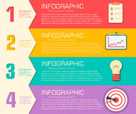Biznesowy płaski infographic szablon z tekstem Zdjęcie Stock