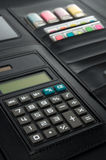 Biznesowy Padfolio z kalkulatorem Obraz Royalty Free