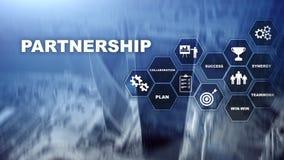 biznesowy partnerstwa pojęcie Pomyślna transakcja po wielkiego spotkania E fotografia stock