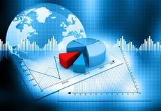 Biznesowy pasztetowy wykres Zdjęcie Stock
