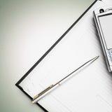 biznesowy pióra telefonu planista Fotografia Stock