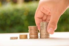Biznesowy pieniężnego oszczędzania pieniądze pojęcie Obraz Stock