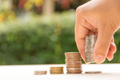 Biznesowy pieniężnego oszczędzania pieniądze pojęcie Fotografia Stock