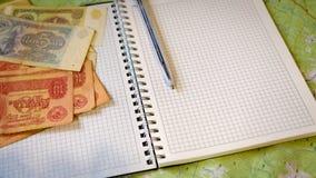 biznesowy pieniądze pisze Obraz Royalty Free