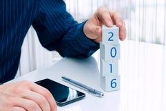 Biznesowy planowanie dla 2016 rok Zdjęcia Royalty Free