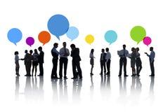 Biznesowy planowanie strategiczne w Silhoyettes Zdjęcie Royalty Free