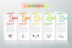 Biznesowy pojęcia infographics również zwrócić corel ilustracji wektora Zdjęcie Royalty Free