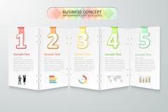 Biznesowy pojęcia infographics również zwrócić corel ilustracji wektora Zdjęcia Royalty Free