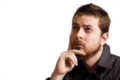 biznesowy pojęcia pomysłu mężczyzna jeden zadumany Zdjęcia Stock