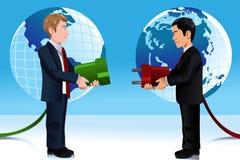 Biznesowy pojęcie łączyć Wschodniego i Zachodniego świat ilustracja wektor