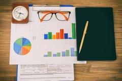 Biznesowy pojęcie biurowe grafika i clo działania i analizy obrazy royalty free