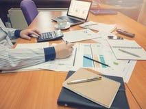 Biznesowy pojęcie biurowy działanie, biznesowy tło Zdjęcie Royalty Free