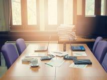 Biznesowy pojęcie biurowy działanie, biznesowy tło Fotografia Stock