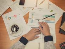 Biznesowy pojęcie biurowy działanie, biznesowy tło Obrazy Stock
