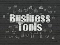 Biznesowy pojęcie: Biznesów narzędzia na ściennym tle Fotografia Royalty Free
