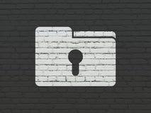 Biznesowy pojęcie: Falcówka Z Keyhole na ściennym tle obraz stock