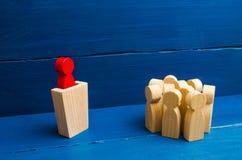 Biznesowy pojęcie ilości, tłumu zarządzanie, polityczna debata i wybory lidera i przywódctwo, Zarządzanie przedsiębiorstwem obraz stock