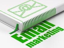 Biznesowy pojęcie: książkowy email, emaila marketing na białym tle Obrazy Stock