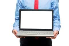 Biznesowy pojęcie - laptop z przestrzenią na ekranie dla pisać Zdjęcie Royalty Free