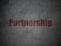 Biznesowy pojęcie: Partnerstwo na grunge ściany tle Obraz Royalty Free