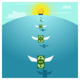 Biznesowy pojęcie pomysłu pieniądze i inwestycja Fotografia Stock