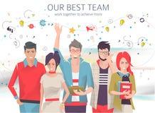 Biznesowy pojęcie praca zespołowa ilustracja wektor