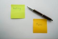 Biznesowy pojęcie spotkanie i brać minuty Fotografia Stock