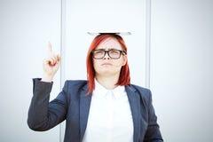 Biznesowy pojęcie sukces i negocjacja Kobieta szef w a, obraz stock