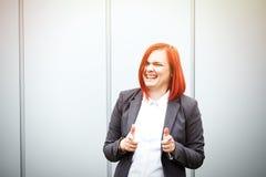 Biznesowy pojęcie sukces Poważny Pomyślny kobieta szef kuchni w a, Zdjęcia Stock