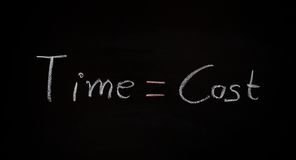 Biznesowy pojęcie, time=cost zdjęcie royalty free