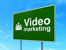 Biznesowy pojęcie: Wideo marketing i biznes Obrazy Stock