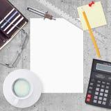 Biznesowy pojęcie z biurem i biznesowa praca Obraz Stock